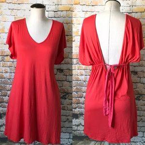 Splendid open back mini dress